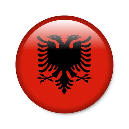 albania: Albania - glossy flag button