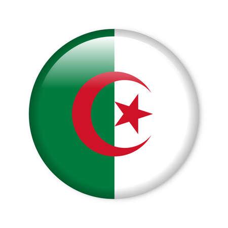 algeria: Algeria - glossy flag button
