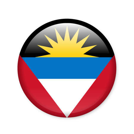 Antigua and Barbuda - glossy flag button