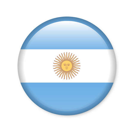 buenos aires: Argentina - glossy flag button Stock Photo