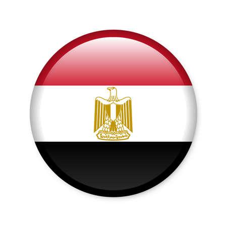 bandera de egipto: Egipto - botón de bandera brillante