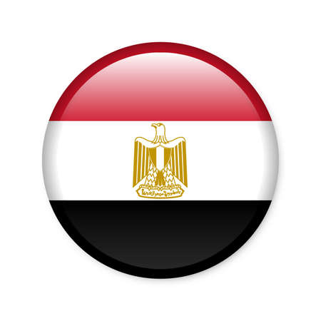 Egypt - glossy flag button photo
