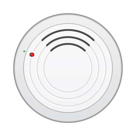 detector: Smoke alarm detector isolated on white background