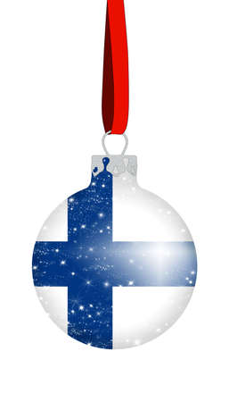 Christmas ball - Finland Stock Photo
