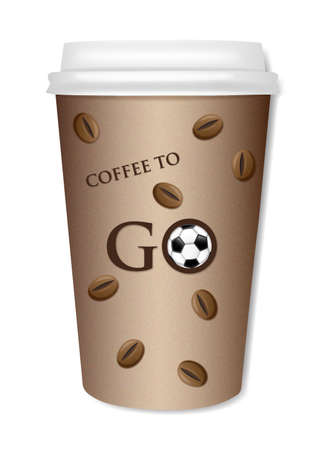 togo: ToGo Coffee cup with a football