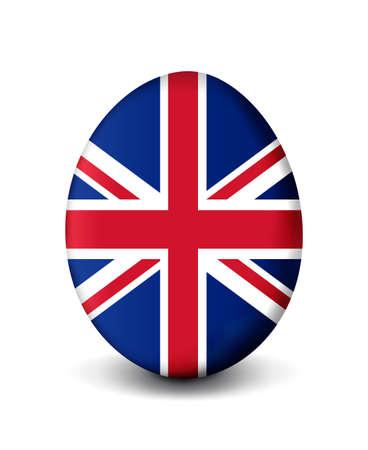 bandera inglesa: Huevo de Pascua - Reino Unido Foto de archivo