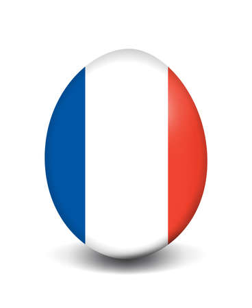france painted: Easter egg - France Stock Photo