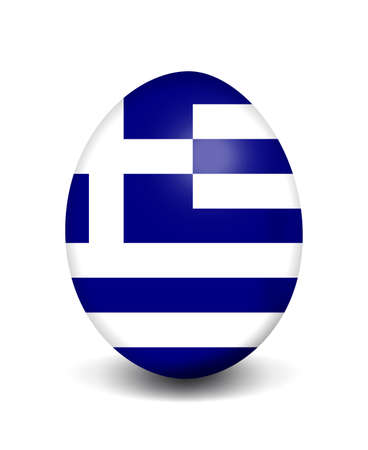 greece flag: Easter egg - Greece Stock Photo