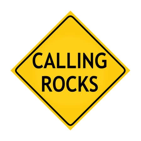 adamant: Fun road sign -  Calling Rocks