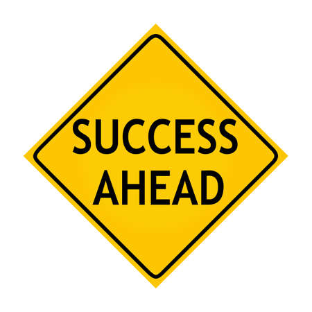 consequence: Fun road sign -  Success Ahead  Stock Photo