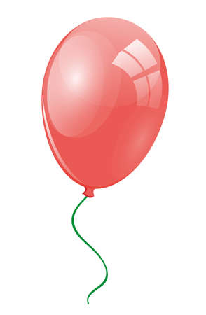 merrily: Red balloon with ribbon