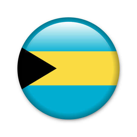 freeport: Bahamas - glossy button with flag