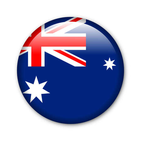 Glossy button in the national colors of Australia