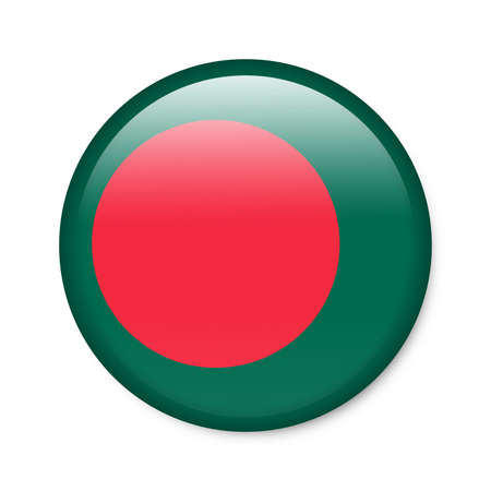 Bangladesh - glossy button with flag Stock Photo