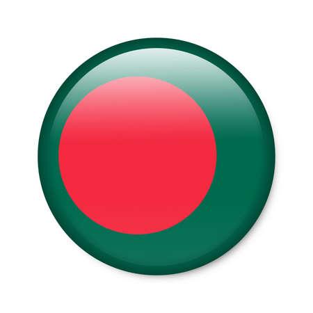 flag banner: Bangladesh - glossy button with flag Stock Photo