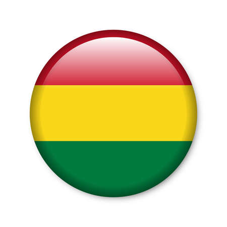 Bolivia - glossy button with flag