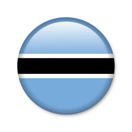 landlocked: Botswana - glossy button with flag Stock Photo