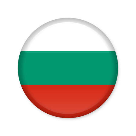 Glossy button in the national colors of Bulgaria
