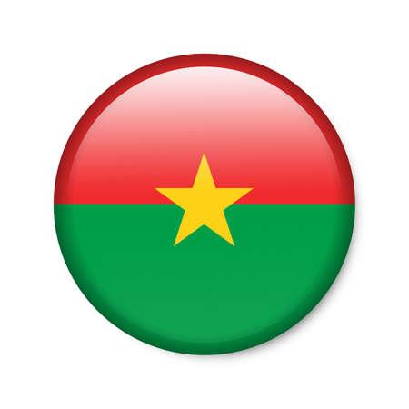 Burkina Faso - glossy button with flag Stock Photo