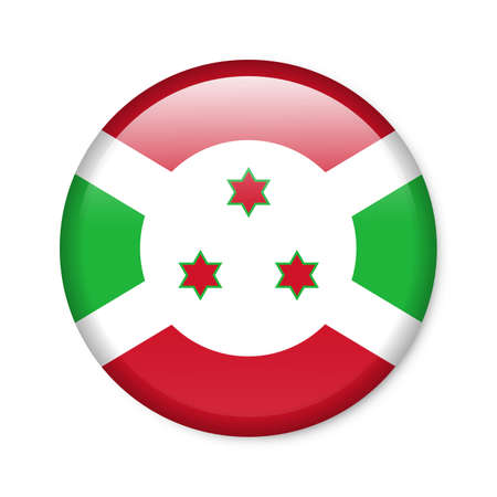 Burundi - glossy button with flag