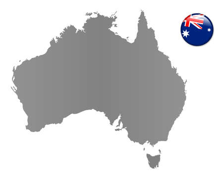 sidney: Australia - map with magnet in national colors