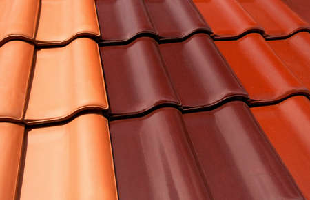 Roof tiles in various colours