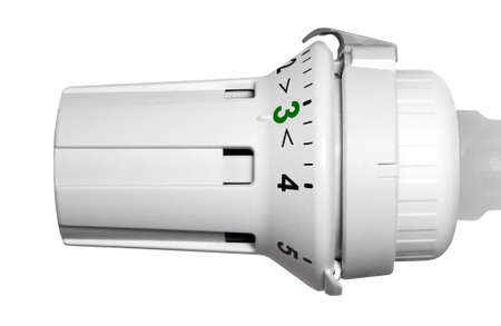 Thermostat with energy-efficient green scale