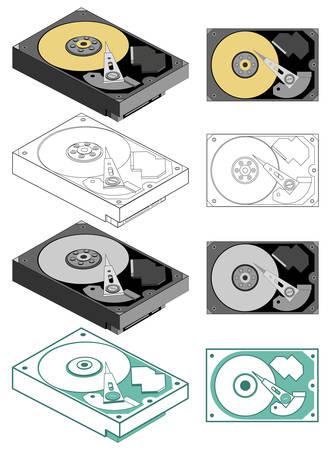 Illustration of computer hard drive