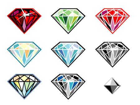 Precious stones with sparkle