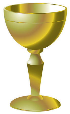 Illustration of golden goblet