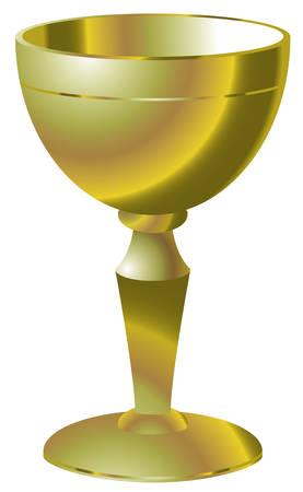 Illustration of golden goblet Illustration