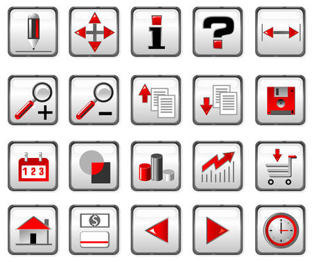 Red and black computer icons