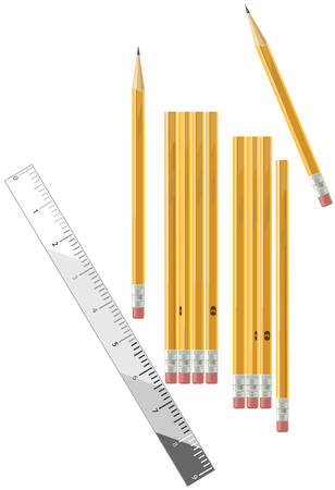 Pencils and ruler