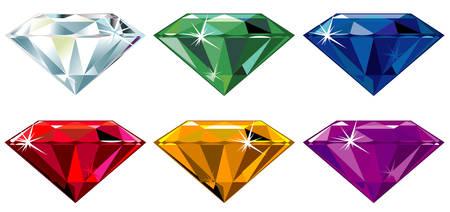 pierres pr�cieuses: Pierres pr�cieuses avec �clat