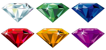 diamond shaped: Precious stones with sparkle