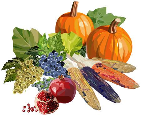 果物や野菜の感謝祭