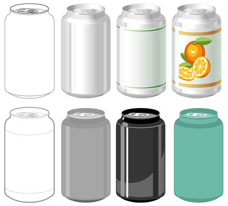 Beverage can in different styles Stock Vector - 5703802