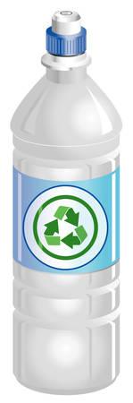 Bouteille d'eau avec recyclage symbole Banque d'images - 6348743