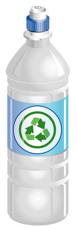 Water bottle with recycle symbol Vector