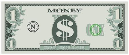 달러: Game money - one dollar bill