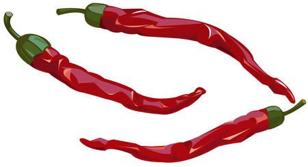 chiles picantes: Chiles rojos