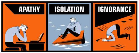 Common office problems Illustration