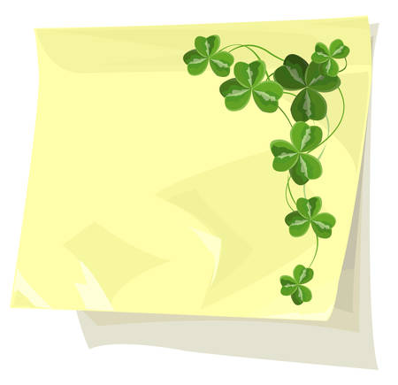 Shamrock on sticky paper Stock Vector - 6348689