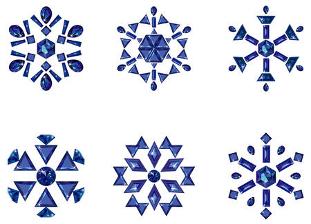 Set of snowflakes Imagens - 6349045