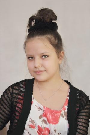 Portrait of a beautiful elegant teen girl photo