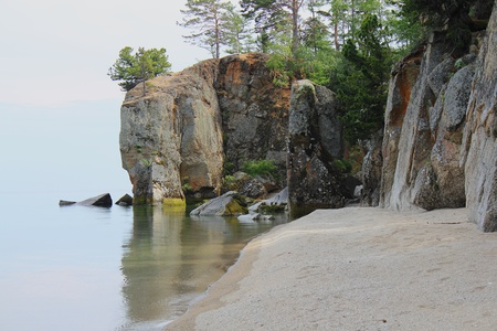 Secluded place on the shore of Lake Baikal Stock Photo - 17290165