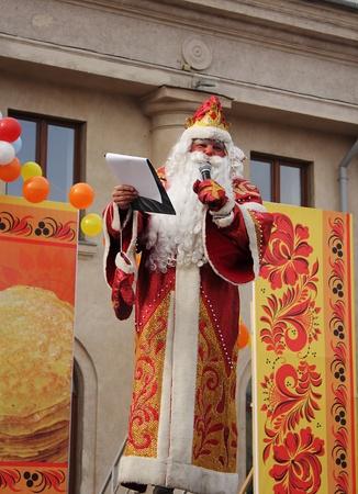 'ded moroz': Ded Moroz in Russian Maslenitsa festival