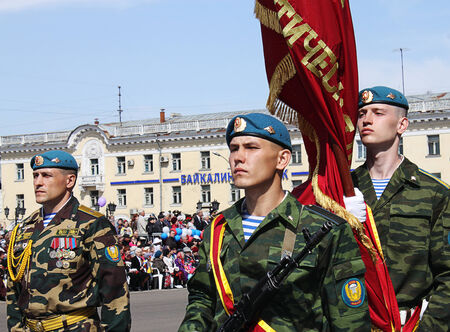 cadet blue: Flag-bearers for the Victory Parade