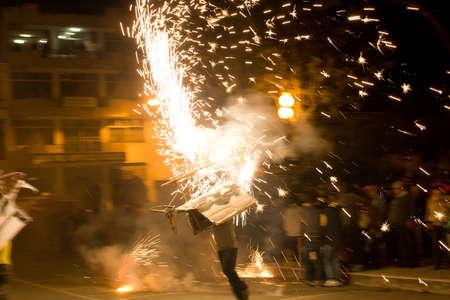 fireworks dance in southern ecuador Stock Photo - 16781368
