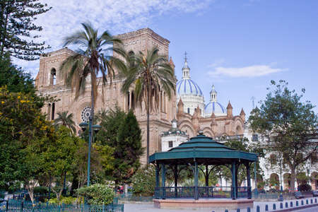 Day time view Cathedral of the Immaculate Conception, Cuenca Ecuador Stock Photo - 16777975